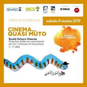 CINEMA...QUASI MUTO e LABORATORI@Girotondo di storie @ Biblioteca Italo Calvino