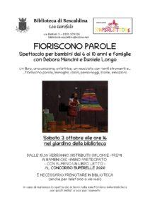 FIORISCONO PAROLE @Biblio Rescaldina @ Biblioteca Lea Garofalo